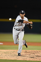 Tampa Yankees pitcher Andury Acevedo (48) delivers a pitch during a game against the Lakeland Flying Tigers on April 9, 2015 at Joker Marchant Stadium in Lakeland, Florida.  Tampa defeated Lakeland 2-0.  (Mike Janes/Four Seam Images)