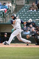 April 15th, 2007:  Pedro Lopez of the Charlotte Knights, Class-AAA affiliate of the Chicago White Sox, during a game at Frontier Field in Rochester, NY.  Photo by:  Mike Janes/Four Seam Images