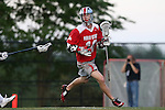 09 May 2015: Ohio State's Carter Brown. The Duke University Blue Devils hosted the Ohio State University Buckeyes at Koskinen Stadium in Durham, North Carolina in a 2015 NCAA Division I Men's Lacrosse Tournament First Round match. Ohio State won the game 16-11.
