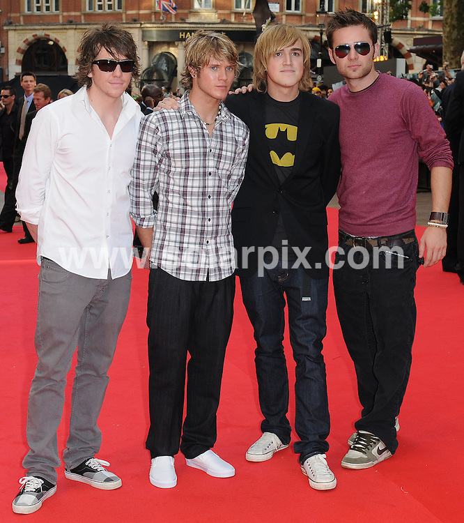 **ALL ROUND PICTURES FROM SOLARPIX.COM**.**WORLDWIDE SYNDICATION RIGHTS**.The Red carpet arrivals at the European Premiere of The Dark Knight Held at the Odeon in Leicester Square in London. ..This pic: McFly...JOB REF: 6887-SSD DATE: 21_07_08.**MUST CREDIT SOLARPIX.COM OR DOUBLE FEE WILL BE CHARGED* *UNDER NO CIRCUMSTANCES IS THIS IMAGE TO BE REPRODUCED FOR ANY ONLINE EDITION WITHOUT PRIOR PERMISSION*