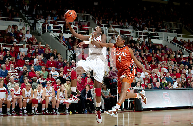 STANFORD CA-NOVEMBER 28, 2010: Chiney Ogwumike during the Stanford 93-78 win over Texas in Stanford, California.
