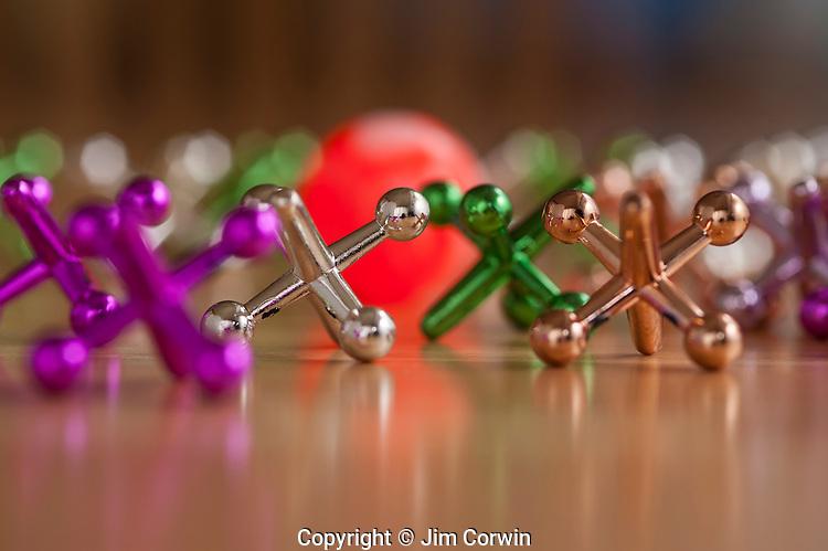 Children's game ball and jacks