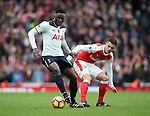 Arsenal's Granit Xhaka tussles with Tottenham's Victor Wanyama during the Premier League match at the Emirates Stadium, London. Picture date November 6th, 2016 Pic David Klein/Sportimage