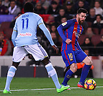 04.03.2017 Barcelona. La Liga game 26. Picture show Leo Messi in action during game between FC Barcelona against Celta at Camop Nou
