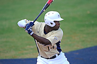 18 March 2012:  FIU outfielder Jabari Henry (14) bats as the Florida Atlantic University Owls defeated the FIU Golden Panthers, 9-3, at University Park in Miami, Florida.