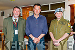 Listowel Military Tattoo: World War 2 historian, author & broadcaster James Holland pictured with Damain Stack, chairperson Listowel Military Tattoo & Padraigh Nolan prior to his lecture on D Day at the Seanchai Centre, Listowel on Saturday evening last.