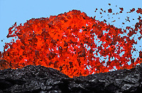 Heaving Lava, Mauna Loa Eruption, Big Island of Hawaii 1984