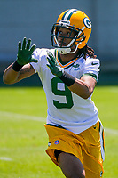 Green Bay Packers wide receiver Montay Crockett (9) during an OTA on June 1, 2017 at Clark Hinkle Field in Green Bay, Wisconsin. (Brad Krause/Krause Sports Photography)