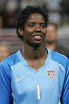 Oct 13 2007:   Briana Scurry (1) of the US WNT.  The US Women's National Team defeated Mexico 5-1 at the Edward Jones Dome in St. Louis on October 13th in their first of three expo matches.