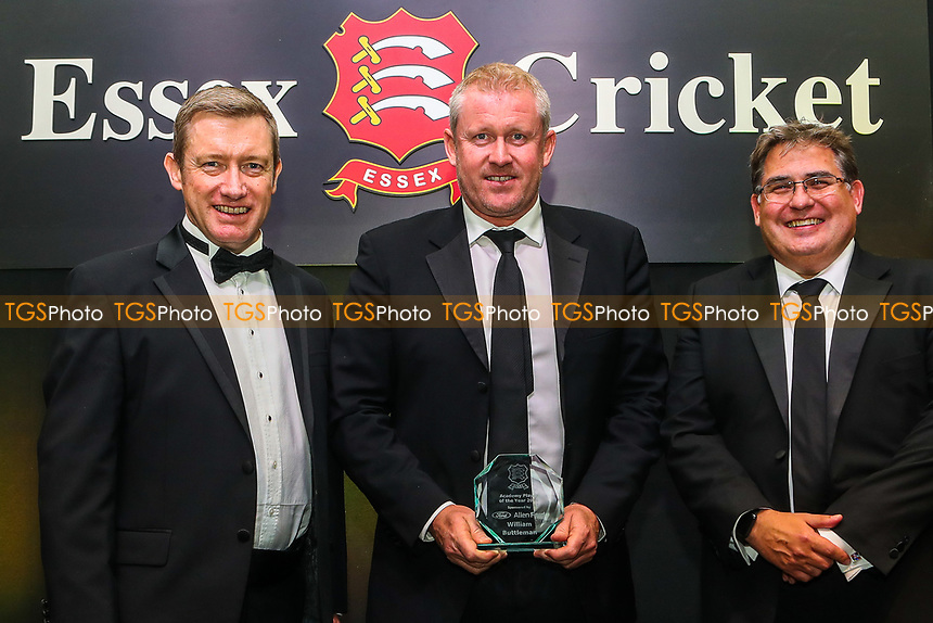 Anthony McGrath of Essex collects the Academy Player of the Year Award on behalf of Will Buttleman during the Essex CCC Awards at The Cloudfm County Ground on 3rd October 2018