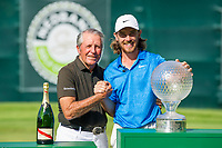 Tommy Fleetwood (ENG) winner of the Nedbank Golf Challenge hosted by Gary Player pictured with Gary Player at the  Gary Player country Club, Sun City, Rustenburg, South Africa. 17/11/2019 <br /> Picture: Golffile | Tyrone Winfield<br /> <br /> <br /> All photo usage must carry mandatory copyright credit (© Golffile | Tyrone Winfield)