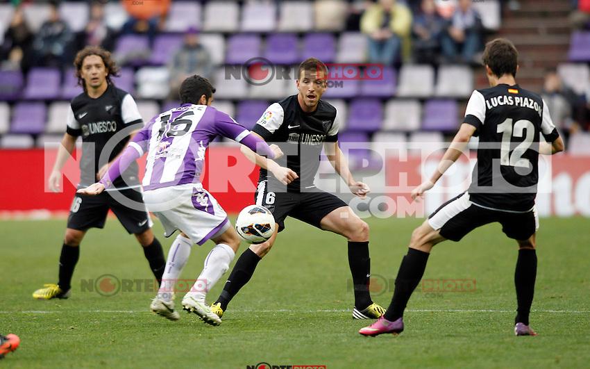 Real Valladolid V Malaga CF match of La Liga 2012/13. 09/03/2012. Victor Blanco/Alterphotos
