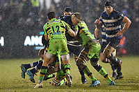 Tom Ellis of Bath Rugby takes on the Northampton Saints defence. Anglo-Welsh Cup Semi Final, between Bath Rugby and Northampton Saints on March 9, 2018 at the Recreation Ground in Bath, England. Photo by: Patrick Khachfe / Onside Images