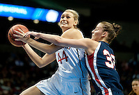 SPOKANE, WA - MARCH 28, 2011: Joslyn Tinkle at the Stanford Women's Basketball vs Gonzaga, NCAA West Regional Finals at the Spokane Arena on March 28, 2011.