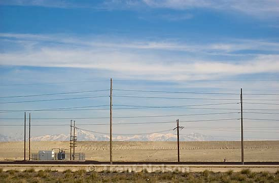 Powerlines and freeway (i-80)<br />