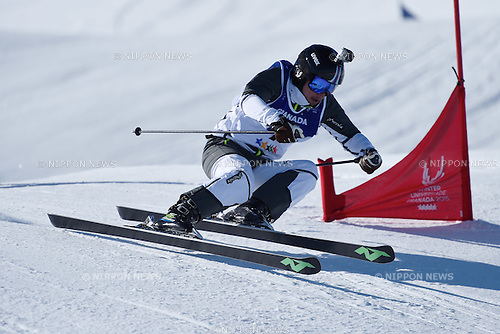 Takahiro Ishizuka (JPN), <br /> FEBRUARY 13, 2015 - Freestyle Skiing : <br /> 27th Winter Universiade Granada 2015 <br /> Men's Ski cross traning <br /> at Sierra Nevada, Granada, Spain. <br /> (Photo by AFLO SPORT) [1220]