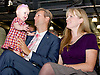 UKIP National Party Conference <br /> Day 2<br /> at Doncaster Race Course, Doncaster, Great Britain <br /> 27th September 2014 <br /> <br /> <br /> Nathan Gill MEP  for Wales <br /> with wife Jana and one of his children <br /> <br /> <br /> Photograph by Elliott Franks <br /> Image licensed to Elliott Franks Photography Services