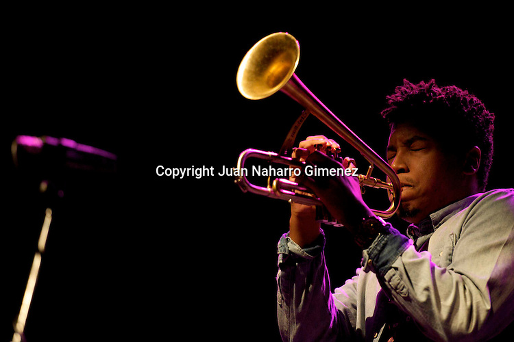 MADRID, SPAIN - NOVEMBER 10: Christian Scott performs in the 'XXVII Festival Jazz Madrid 2010' at Teatro Fernan Gomez on November 10, 2010 in Madrid, Spain. (Photo by Juan Naharro Gimenez)