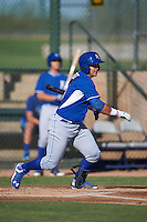 Kansas City Royals Chase Vallot (3) during an instructional league game against the San Francisco Giants on October 23, 2015 at the Papago Baseball Facility in Phoenix, Arizona.  (Mike Janes/Four Seam Images)