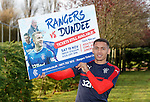 James Tavernier promotes ticket sales for the Rangers v Dundee match