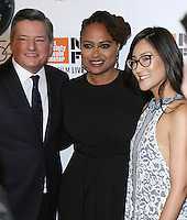 "NEW YORK, NY-September 30:Ted Sarandos, Ava DuVernay, Lisa Nishimura  at 54th New York Film Festival - Opening Night Gala Presentation And ""13th"" World Premiere at Alice Tully Hall at Lincoln Center in New York. September 30, 2016. Credit:RW/MediaPunch"