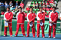 (L to R) Eiji Takeuchi (JPN), Kei Nishikori (JPN), Yuichi Sugita (JPN), Go Soeda (JPN), Tatsuma Ito (JPN), SEPTEMBER 16, 2011 - Tennis : Davis Cup by BNP Paribas 2011 World Group play-off match Japan vs India during Opening Ceremony at Ariake Colosseum, Tokyo, Japan. (Photo by Jun Tsukida/AFLO SPORT) [0003]