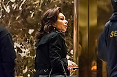Fox News commentator Jeanine Pirro seen in the lobby of Trump Tower in New York, NY, USA on January 3, 2017. <br /> Credit: Albin Lohr-Jones / Pool via CNP
