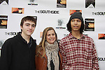 "One Life To Live and Guiding Light Fiona Hutchison (in the film) poses with her son Trevor and friend James at The private Industry Screening of ""The Southside"", A Lany Film Tribute to Robert Areizaga, Jr. on February 27, 2012 at Tribeca Cinemas, New York City, New York.  (Photo by Sue Coflin/Max Photos)"
