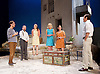 Sunset at the Villa Thalia <br /> by Alexi Kaye Campbell<br /> at Dorfman Theatre, National Theatre, Southbank, London, Great Britain <br /> <br /> 31st May 2016 <br /> press photocall <br />  <br /> <br /> directed by Simon Godwin<br />  <br /> Christos Callow as Stamatis<br /> <br /> Sam Crane as Theo <br /> <br /> Glykeria Dimou as Maria <br /> <br /> Elizabeth McGovern as June <br /> <br /> Ben Miles as Harvey <br /> <br /> Pippa Nixon as Charlotte <br /> <br />  <br /> <br /> Photograph by Elliott Franks <br /> Image licensed to Elliott Franks Photography Services