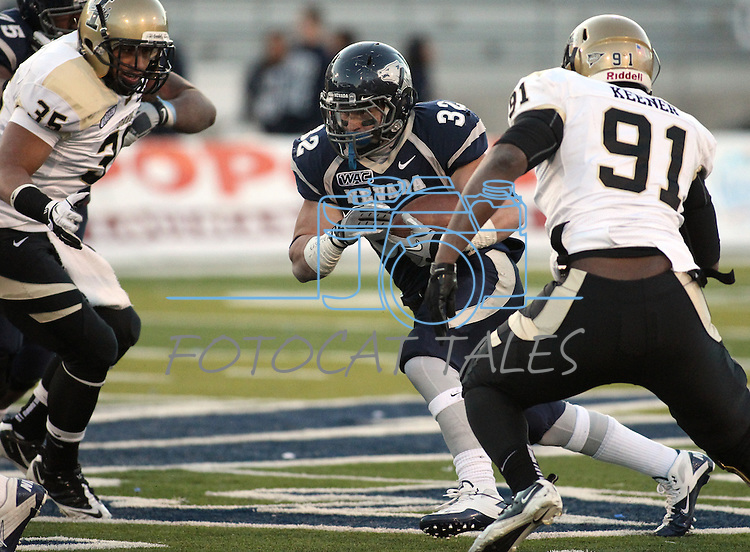 Nevada's Nick Hale runs in the fourth quarter of the NCAA football game between Idaho and Nevada in Reno, Nev., on Saturday, Dec. 3, 2011. Nevada won 56-3.  .Photo by Cathleen Allison