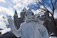 Amérique/Amérique du Nord/Canada/Québec/ Québec: Ice Man devant la Porte Saint-Louis lors du Carnaval de Québec