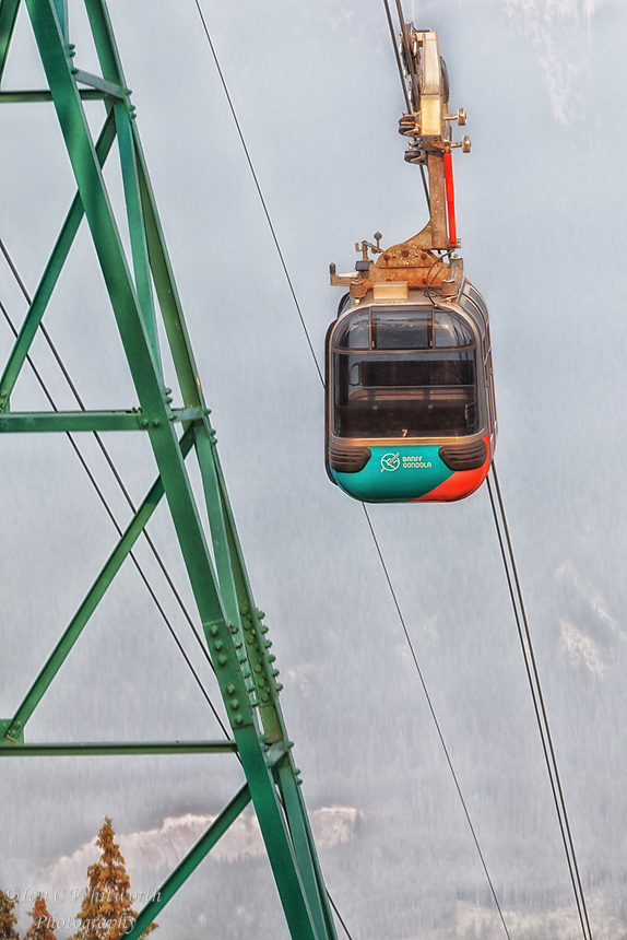 Banff Gondola Ride to the top of Sulphur Mountain through the smoke from the BC forest fires.