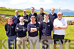 The Kenmare team who competed in the Jimmy Bruen at Skellig Bay GC on Saturday were front l-r; Donnagh Crowley, Paul O'Connor, Dave Burke, Pierce O'Shea, Seamus McGearailt, back l-r; John Sweeney, David Keirns, John Maye, Padraig O'Shea & Conor McSwiney.
