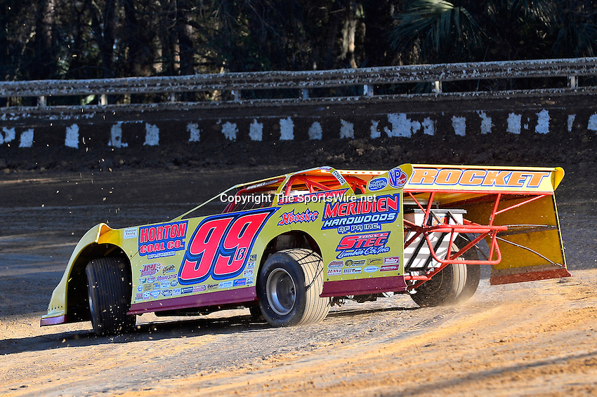 Feb 16, 2014; 4:38:46 PM; Ocala, FL., USA; The Third Annual Bubba Army Winter Nationals World Of Outlaws Super Late Models paying $12,000 to win at Bubba RaceWay Park.  Mandatory Credit: (thesportswire.net)
