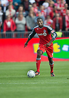 05 May 2012: Toronto FC defender Doneil Henry #4 in action during an MLS game between DC United and Toronto FC at BMO Field in Toronto..D.C. United won 2-0.