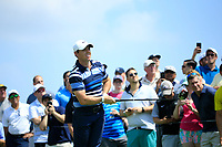 Rory McIlroy (NIR) during the first round of  The Northern Trust, Liberty National Golf Club, Jersey City, New Jersey, USA. 08/08/2019.<br /> Picture Michael Cohen / Golffile.ie<br /> <br /> All photo usage must carry mandatory copyright credit (© Golffile | Michael Cohen)