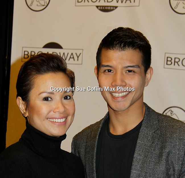 "As The World Turns Lea Salonga and Telly Leung (Glee) and both are starring in the play ""Allegiance"" attend the first ever 3-day Broadway Con on January 22 - 24, 2016 at the Hilton Hotel, New York City, New York. (Photo by Sue Coflin/Max Photos)"