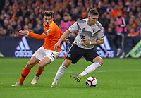 Niklas Süle (Deutschland Germany) setzte sich gegen Marten de Roon (Niederlande) durch - 24.03.2019: Niederlande vs. Deutschland, EM-Qualifikation, Amsterdam Arena, DISCLAIMER: DFB regulations prohibit any use of photographs as image sequences and/or quasi-video.