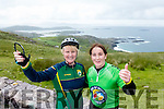 Lorraine Fitzgerald Knocknagoshel and Breda Geaney, Brosna Cyclists at the Ring of Kerry Charity Cycle on Saturday.