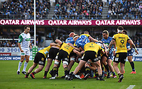 14th June 2020, Aukland, New Zealand;  General view of Qatar Airways signage.<br />  at the Investec Super Rugby Aotearoa match, between the Blues and Hurricanes held at Eden Park, Auckland, New Zealand.