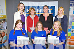 BRAINS TO BURN: Students of St Brigid's presentation, Killarney winner's of the Kerry Science Teachers Association secondary school science quiz at the IT Tralee south campus on Thursday seated l-r:Eimear Hickey, Mairead O'Sullivan and Elizabeth Fuller. Back l-r: Stephanie Leonard (KSTA), Miriam Malone (teacher), Elaine Daly (teacher) and Marie Rohan (Kerry Group).