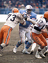 Houston Oilers Elvin Bethea(65), in action during a game against the Cleveland Brown on December 5, 1976 at Cleveland Municipal Stadium in Cleveland, Ohio.   The Oilers beat the Browns 13-10