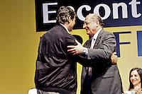 SÃO PAULO, 14 DE MARÇO 2013 - ENCONTRO DE PREFEITOS DO ESTADO DE SÃO PAULO - O prefeito Fernando Haddad e o Governador Alckmin durante evento que reuniu Prefeitos do Estado de São Paulo, no Memorial da América Latina, Barra Funda, zona oeste da capital, na manhã desta quinat-feira(14) - FOTO: LOLA OLIVEIRA/BRAZIL PHOTO PRESS