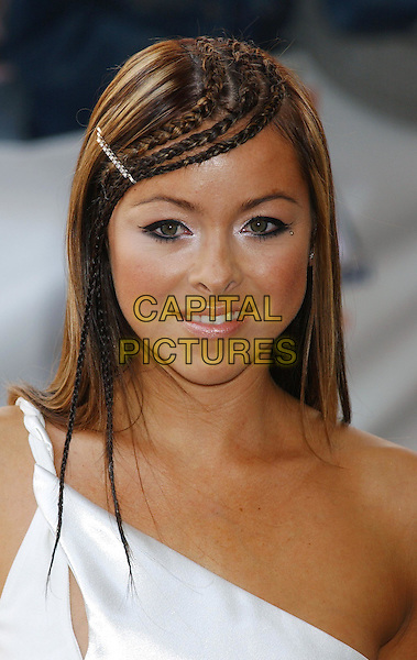 LISA SCOTT LEE.Capital FM Awards for Help A London Child at the Royal Lancaster Hotel.www.capitalpictures.com.sales@capitalpictures.com.©Capital Pictures..headshot, portrait, braids, plaits, hair clip, hairclip