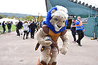 Bath Rugby mascot Maximus in action prior to the match. Aviva Premiership match, between Bath Rugby and Exeter Chiefs on October 17, 2015 at the Recreation Ground in Bath, England. Photo by: Patrick Khachfe / Onside Images