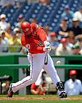 8 June 2008: Washington Nationals' outfielder Elijah Dukes in action against the San Francisco Giants at Nationals Park in Washington, DC. The Nationals dropped the afternoon matchup to the Giants 6-3 in their third consecutive loss of the 4-game series...Mandatory Photo Credit: Ed Wolfstein Photo