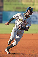 Starling Marte of the Bradenton Marauders during the game at Jackie Robinson Ballpark in Daytona Beach, Florida on August 3, 2010. Photo By Scott Jontes/Four Seam Images