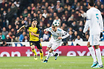 Cristiano Ronaldo of Real Madrid (R) in action during the Europe Champions League 2017-18 match between Real Madrid and Borussia Dortmund at Santiago Bernabeu Stadium on 06 December 2017 in Madrid Spain. Photo by Diego Gonzalez / Power Sport Images