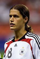 Germany midfielder (18) Kerstin Garefrekes. Germany defeated Brazil, 2-0 during the FIFA Women's World Cup final at Hongkou Stadium in Shanghai, China on September 30, 2007.