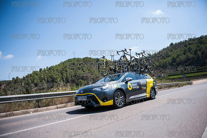 Castellon, SPAIN - SEPTEMBER 7: DIrect Energie during LA Vuelta 2016 on September 7, 2016 in Castellon, Spain